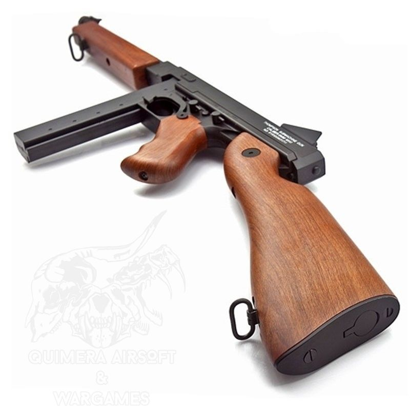 Customs Quimera - Cybergun Fusil Thompson Military M1A1 Imitación Madera